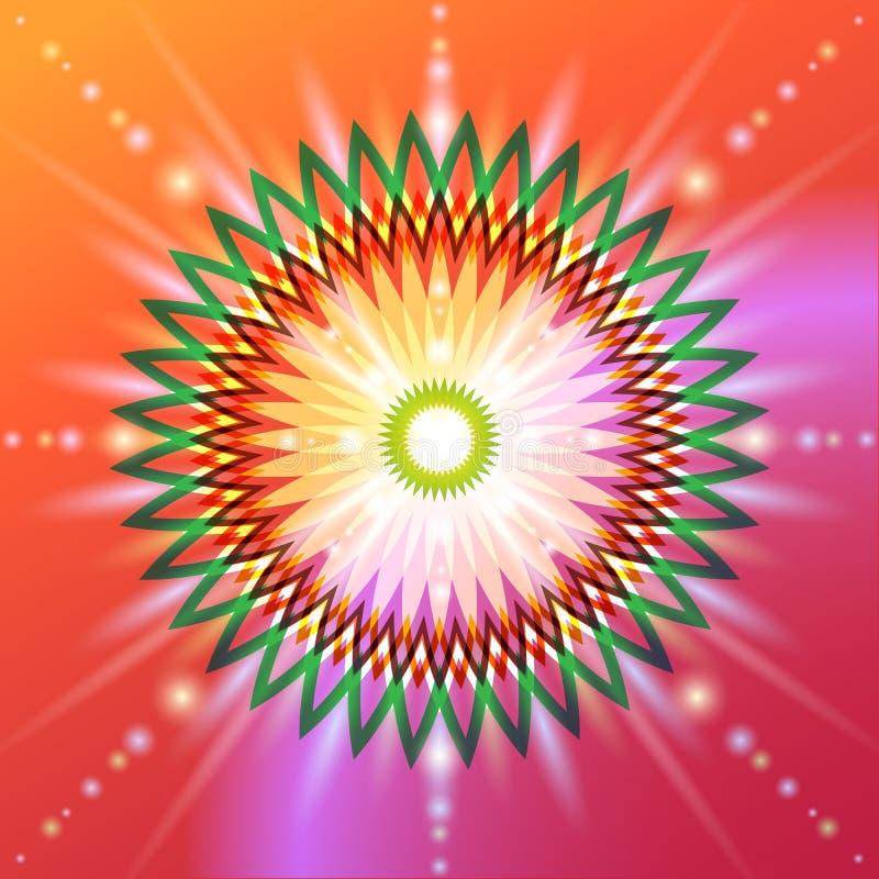 Fiore sacro della geometria illustrazione vettoriale