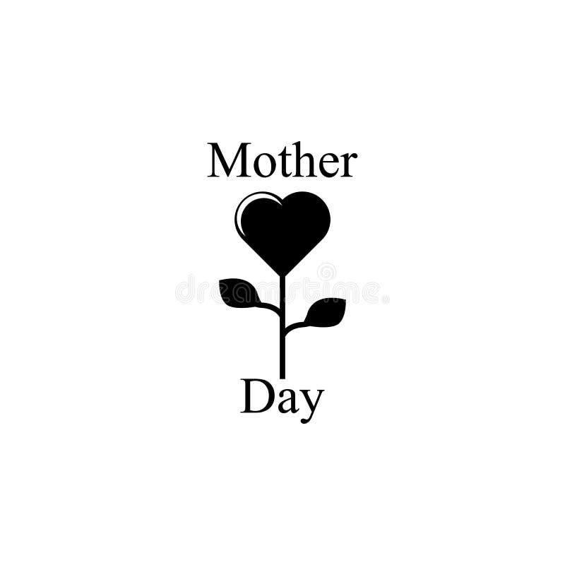 fiore sotto forma di cuore per l'icona della madre Elemento dell'icona di giorno di madri Icona premio di progettazione grafica d illustrazione di stock