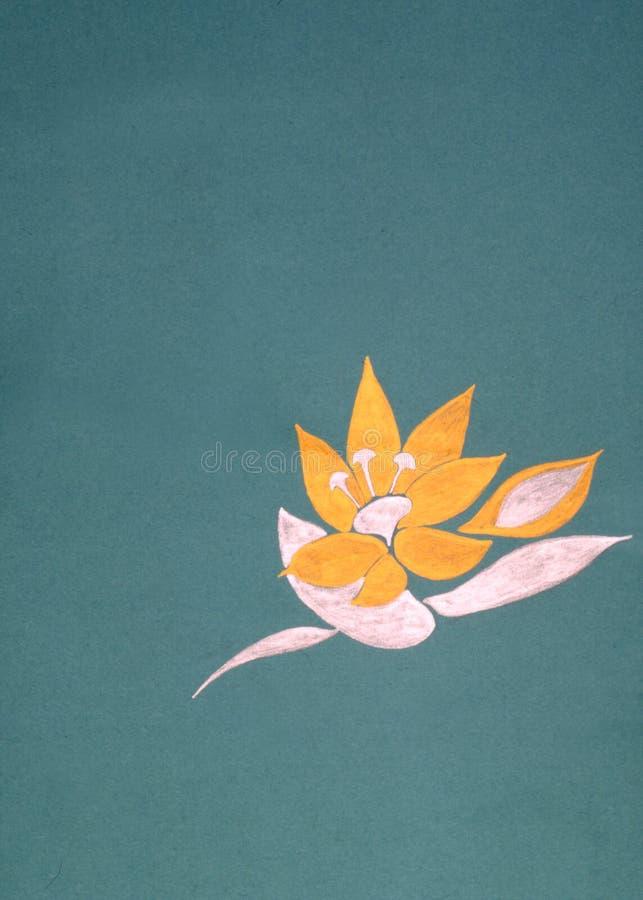 Fiore su verde illustrazione di stock