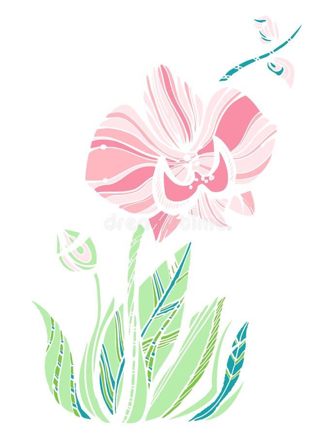 Fiore sveglio dell'orchidea royalty illustrazione gratis