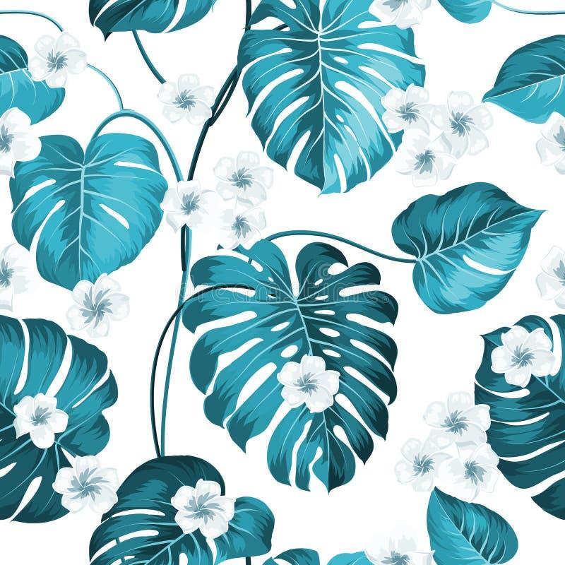 Fiore tropicale senza cuciture royalty illustrazione gratis