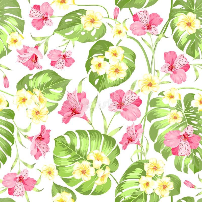 Fiore tropicale senza cuciture illustrazione di stock