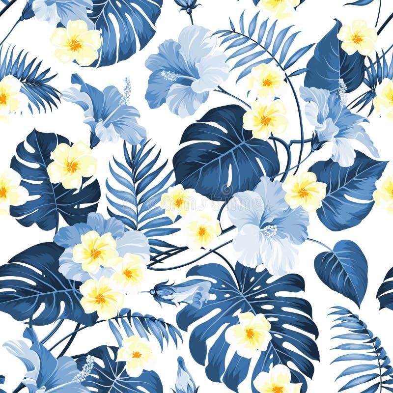Fiore tropicale senza cuciture illustrazione vettoriale