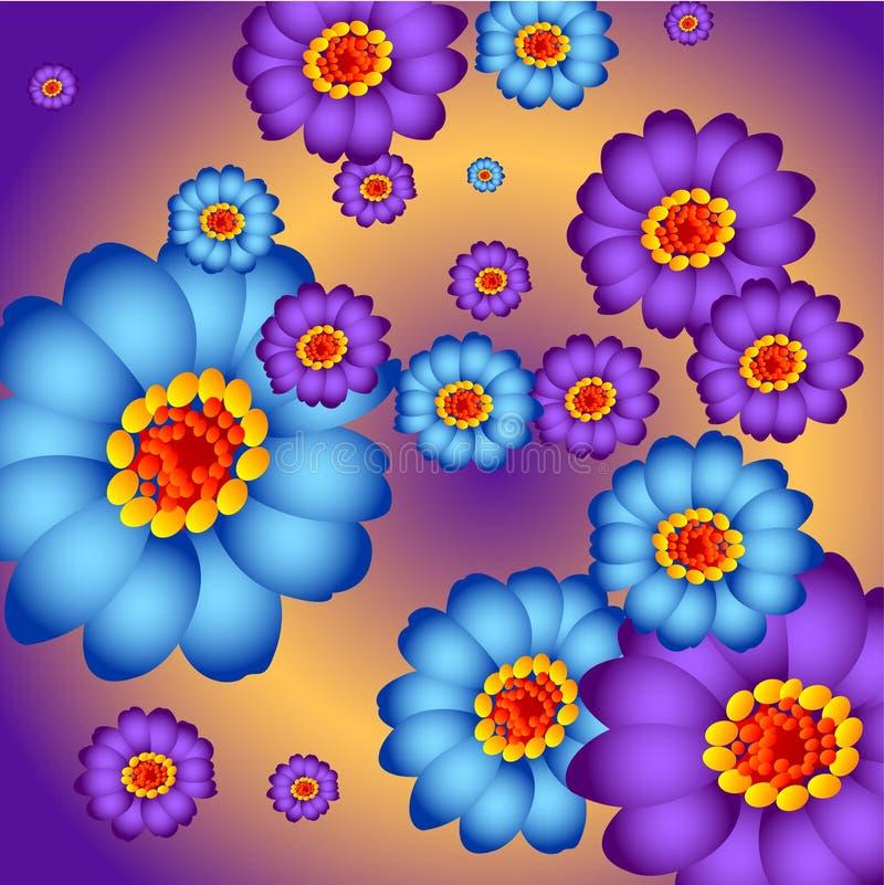 Fiore variopinto illustrazione vettoriale