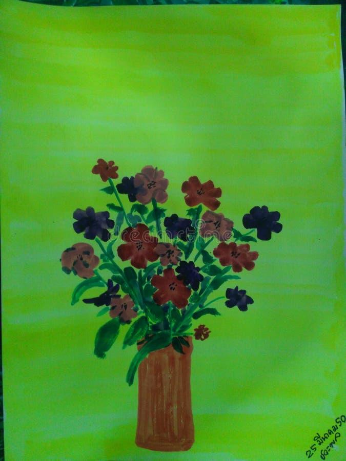 Fiore in vaso immagine stock