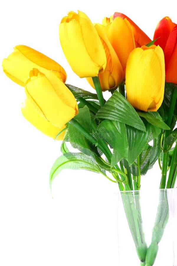 Fiori artificiali tulipano fotografia stock immagine for Tulipani arancioni