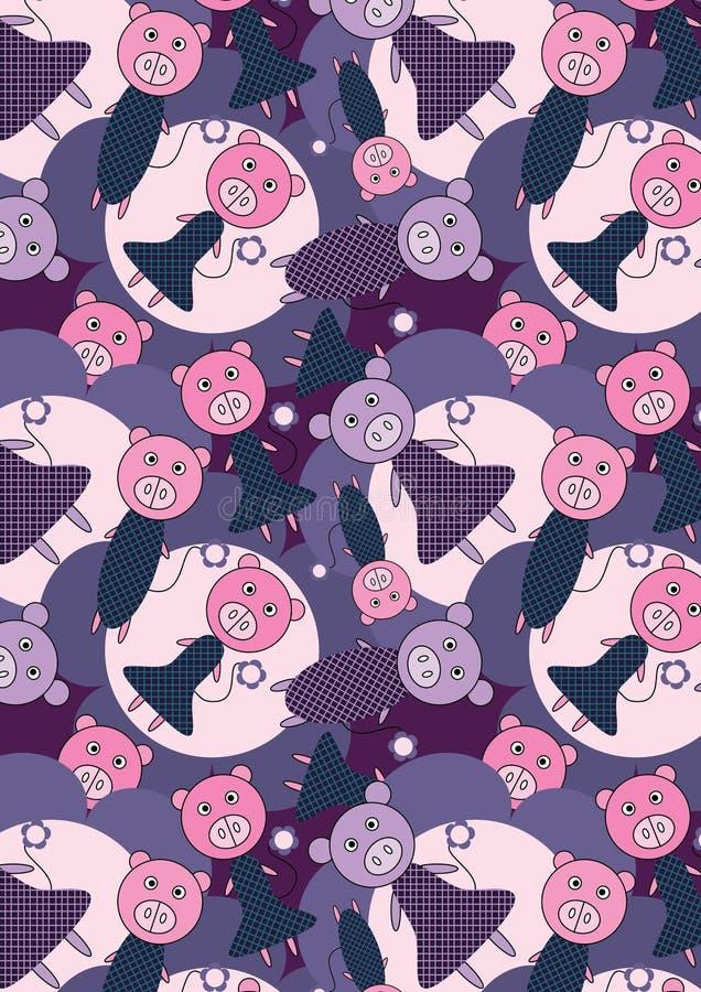 Fiori Background_eps dei maiali illustrazione di stock