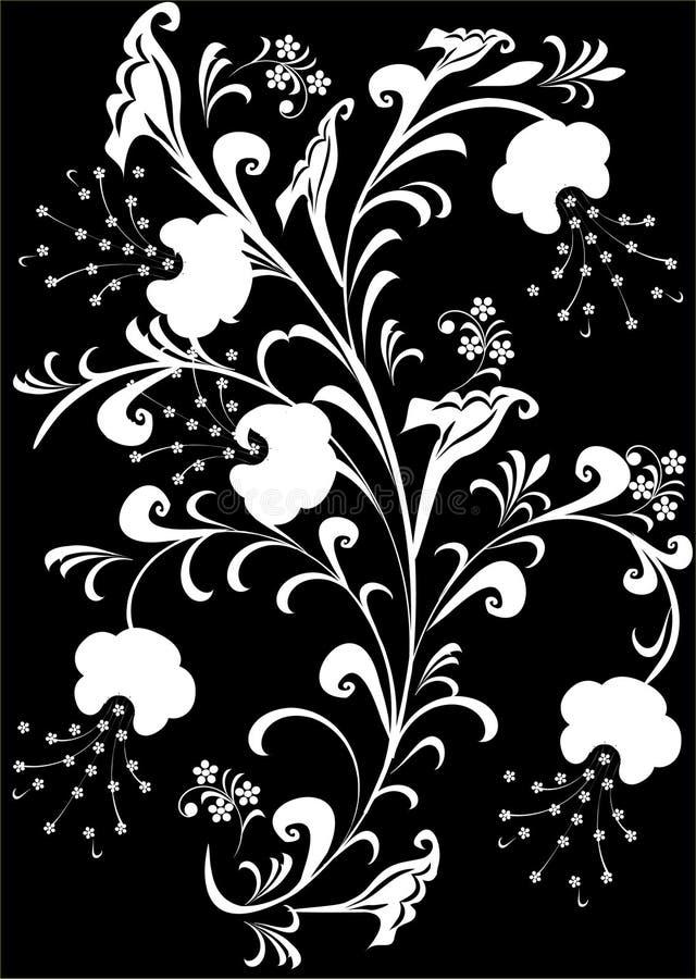 Download Fiori bianchi sul nero illustrazione di stock. Illustrazione di nave - 3881780