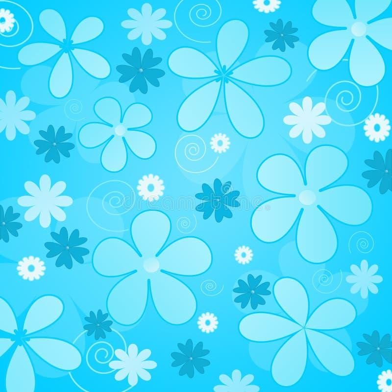 Fiori blu illustrazione vettoriale