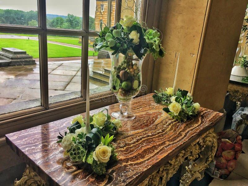 Fiori in castello Howard, Inghilterra fotografie stock