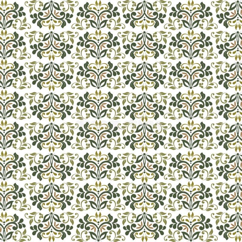 Fiori d'annata floreali fantastici senza cuciture illustrazione di stock