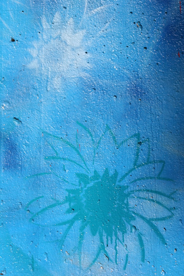 Fiori dei graffiti fotografia stock libera da diritti