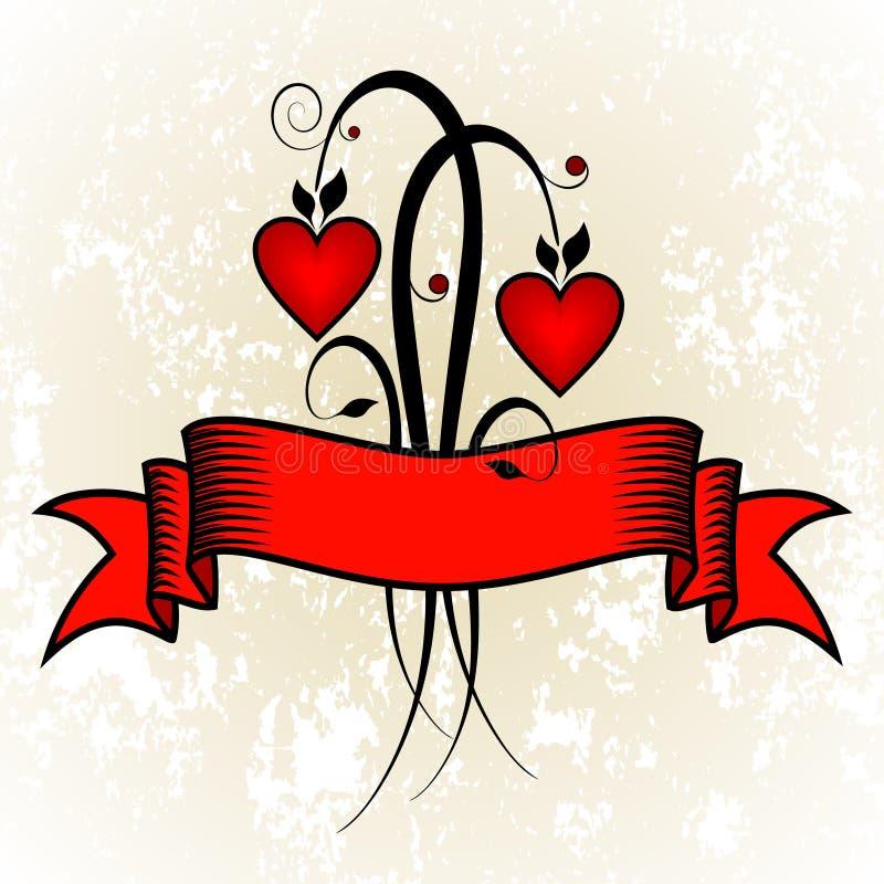 Fiori del biglietto di S. Valentino royalty illustrazione gratis
