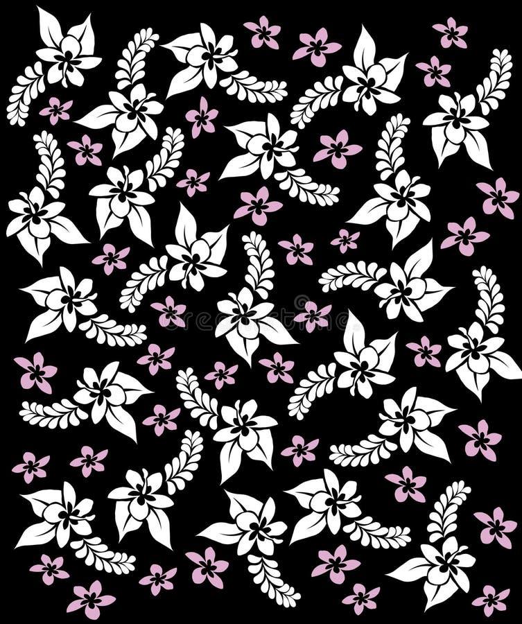 Fiori del black&white dell'Hawai. illustrazione vettoriale