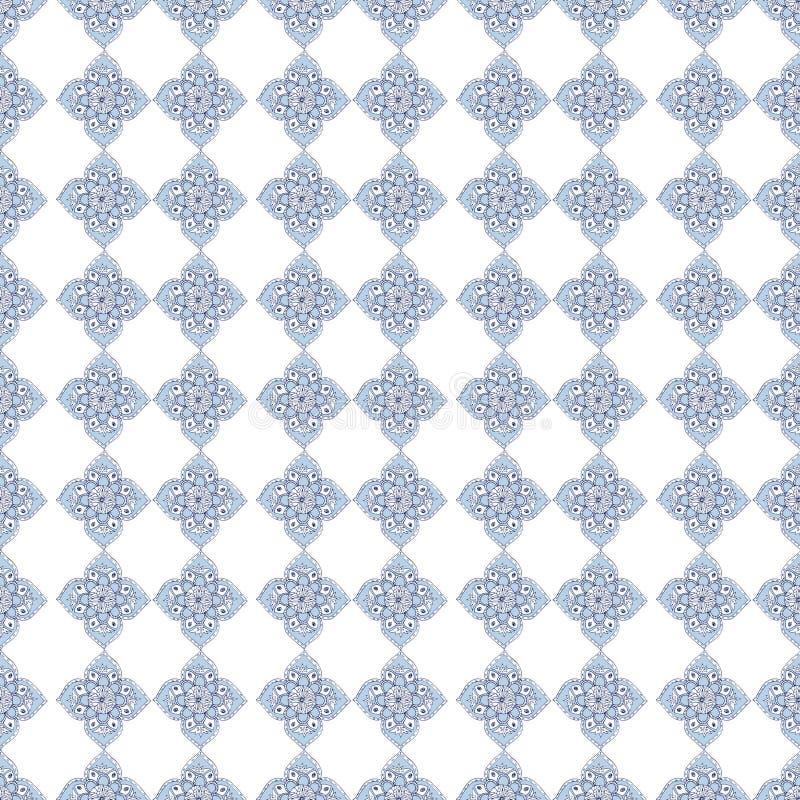 Fiori del blu di frattale Un'illustrazione luminosa elegante con i fiori Modello per progettazione di tessuto, carte da parati Su fotografia stock