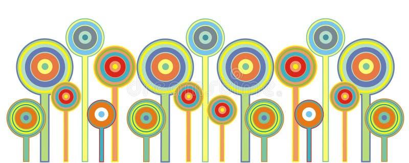 Fiori del Lollipop illustrazione vettoriale
