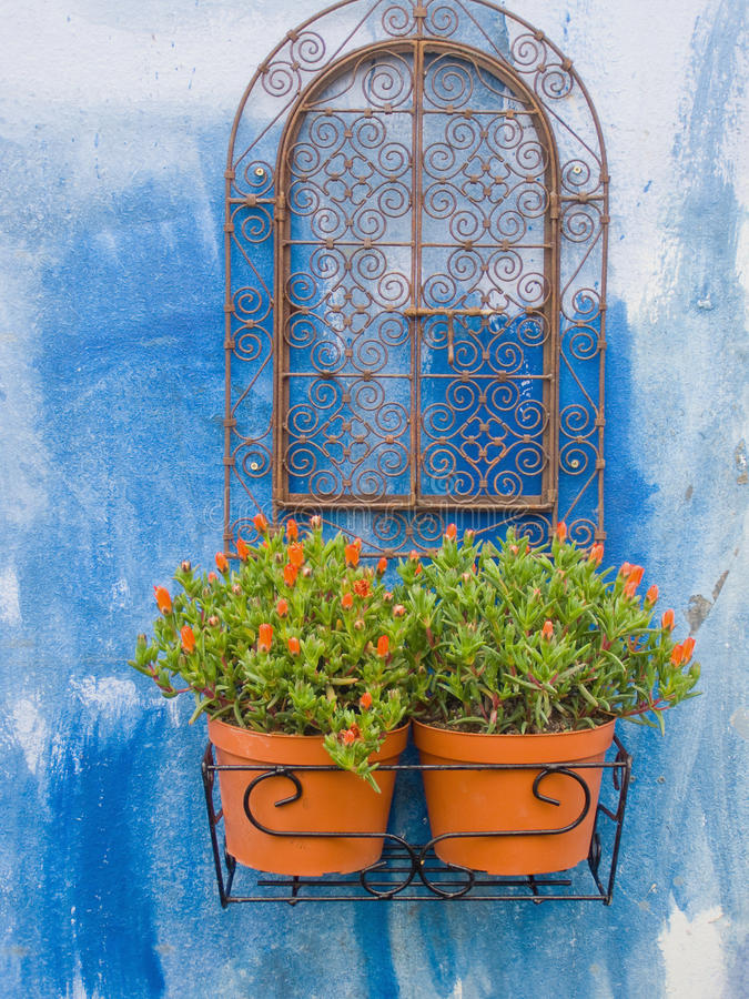 Fiori della finestra fotografie stock