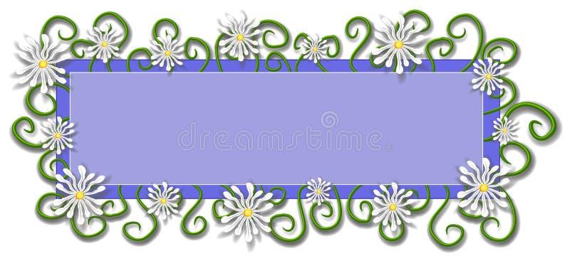 Pagina Web Logo Daisy Flowers fotografia stock libera da diritti