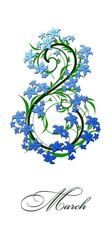 Fiori della primavera tessuti nella figura 8 fotografia stock libera da diritti