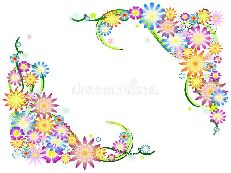Fiori della sorgente a colori royalty illustrazione gratis