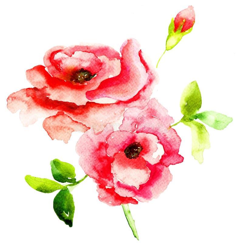 Fiori Delle Rose Rosse Fotografia Stock Libera da Diritti