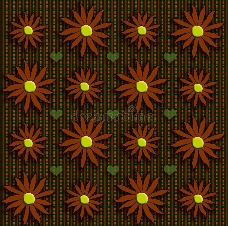 Fiori di caduta su tweed fotografie stock libere da diritti