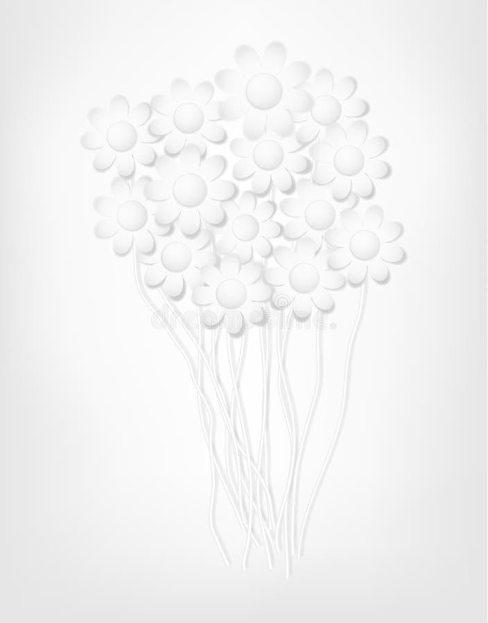 Download Fiori di carta astratti. illustrazione vettoriale. Illustrazione di crisantemo - 30829135