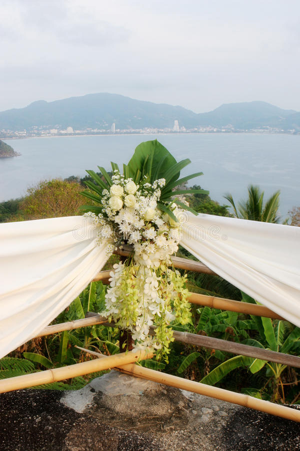 Fiori di cerimonia nuziale. immagine stock