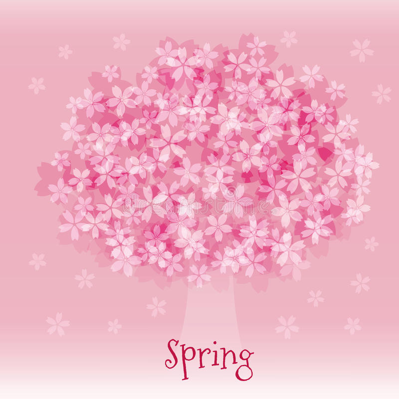 Fiori di ciliegia in piena fioritura royalty illustrazione gratis