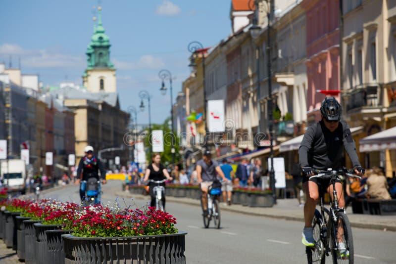 Fiori di fioritura a Varsavia fotografia stock
