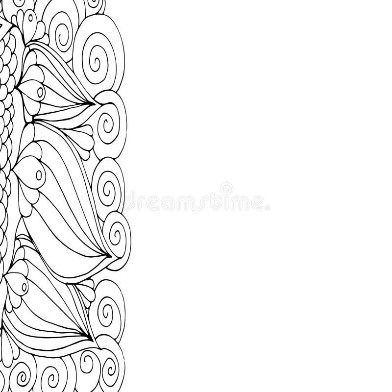 Fiori di scarabocchio illustrazione di stock