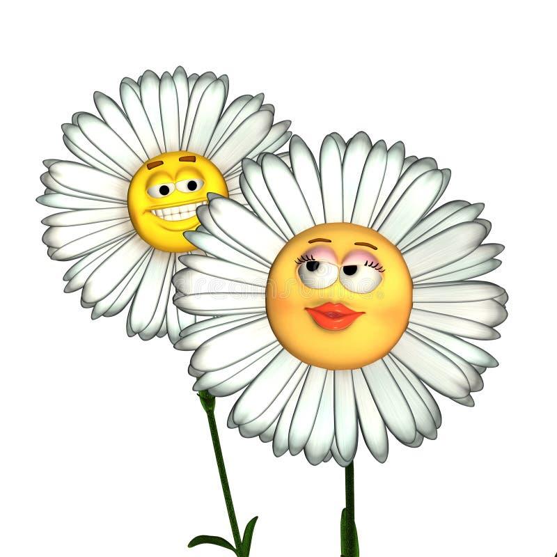 Fiori di smiley royalty illustrazione gratis