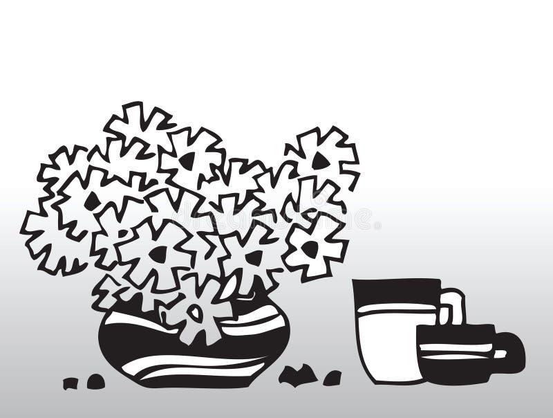 Fiori di vettore illustrazione di stock