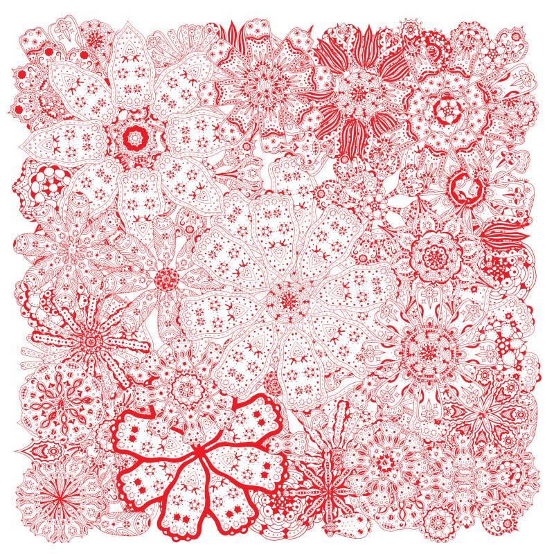 Fiori differenti di scarabocchio illustrazione vettoriale