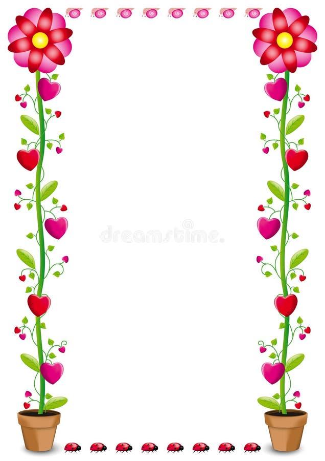 fiori e cuori royalty illustrazione gratis