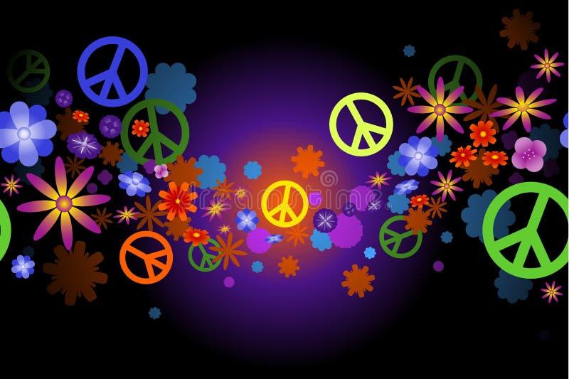 Fiori e pace illustrazione di stock