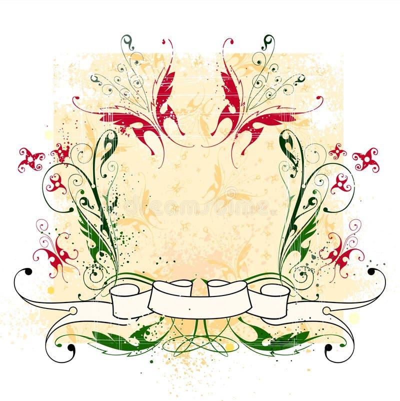 Fiori, farfalle & nastro illustrazione di stock