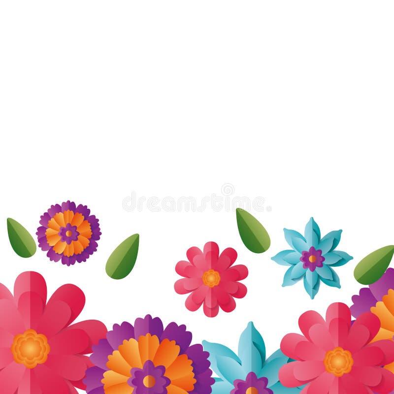 Fiori floreali del confine royalty illustrazione gratis