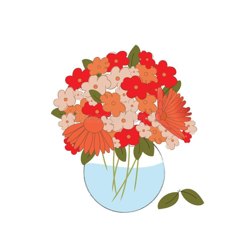 Fiori freschi in un vaso illustrazione di stock