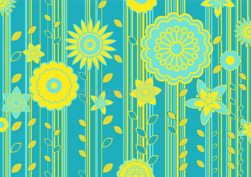 Fiori Funky illustrazione vettoriale
