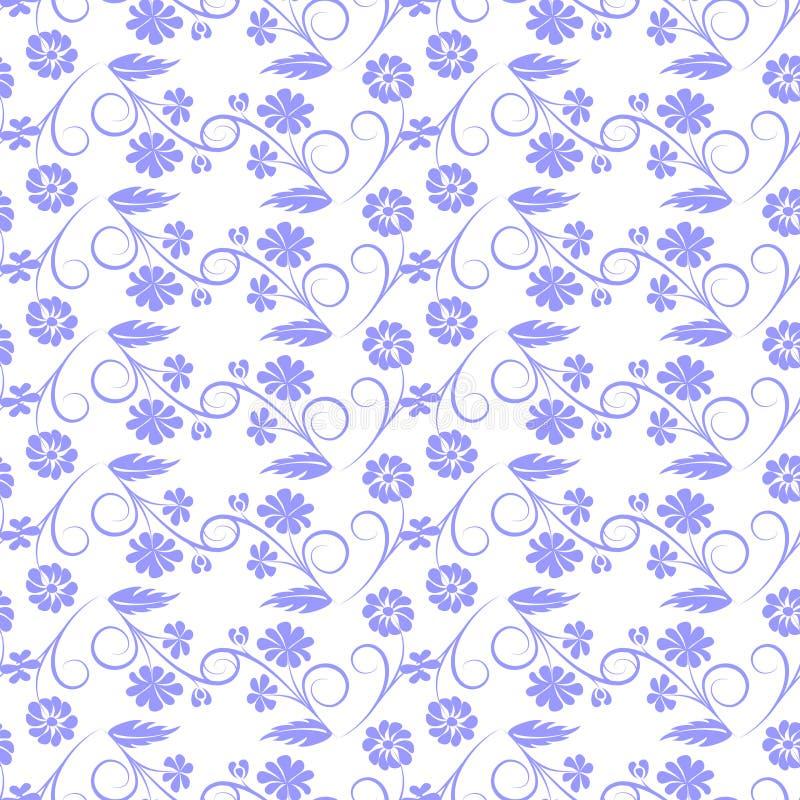 Fiori grigi su fondo bianco royalty illustrazione gratis