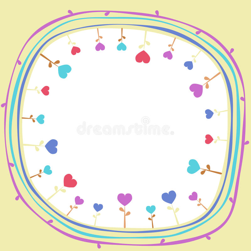 Fiori interni del cuore del mondo royalty illustrazione gratis