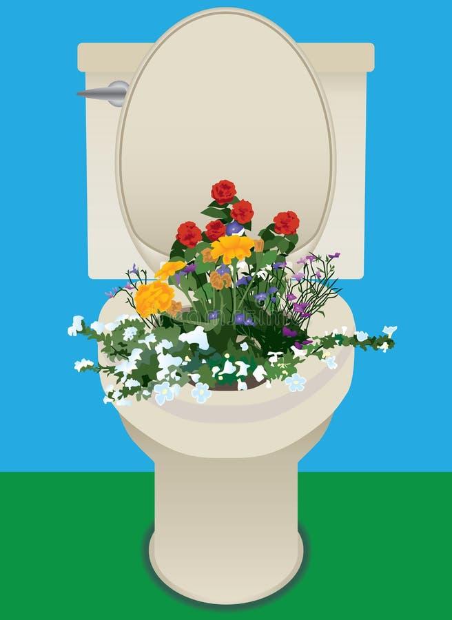 Fiori nella toilette royalty illustrazione gratis