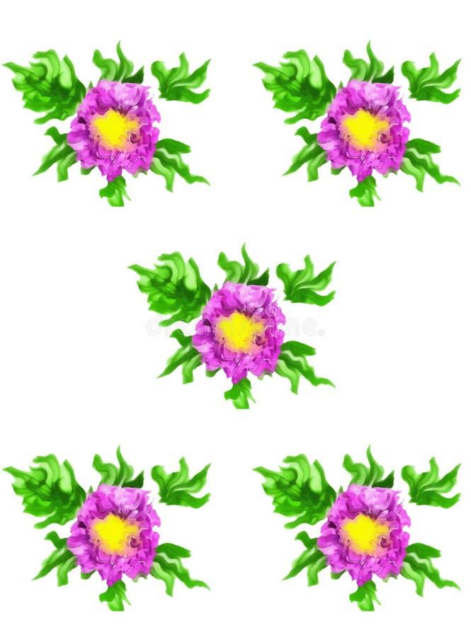 Fiori rosa del modello, acquerello royalty illustrazione gratis