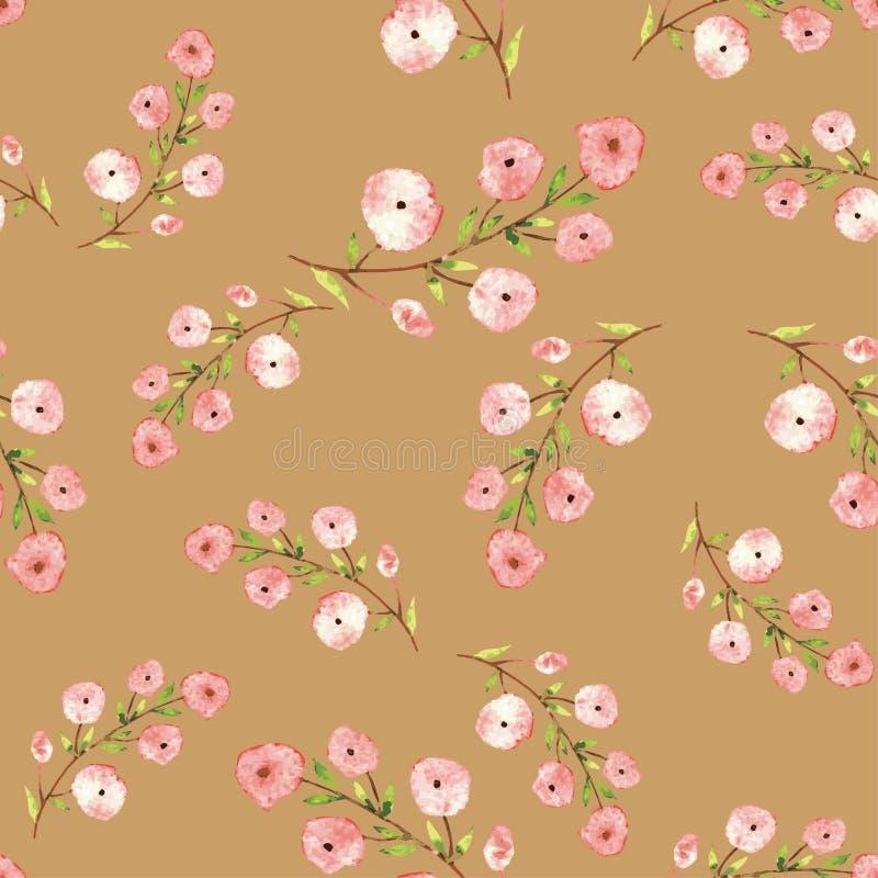 Fiori rossi in acquerello fotografia stock