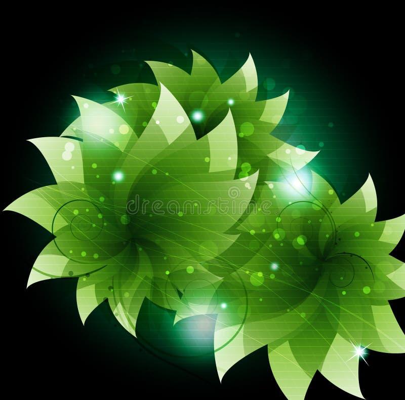 Fiori scintillanti verdi illustrazione vettoriale for Fiori verdi