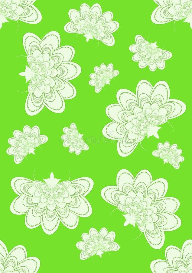 Fiori senza giunte su calce illustrazione vettoriale
