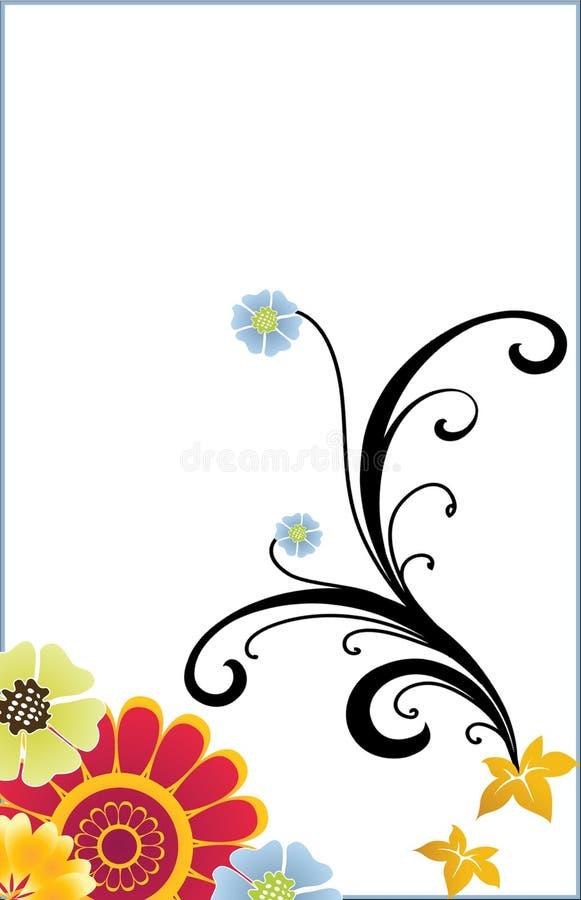 Fiori su bianco immagine stock