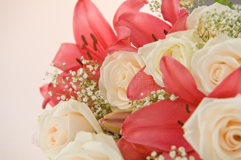 Download Fiori Su Priorità Bassa Bianca Immagine Stock - Immagine di valentine, disposizione: 7304843