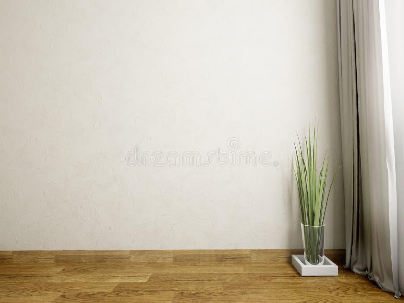 Fiori in un vaso di vetro su un fondo della parete fotografia stock libera da diritti